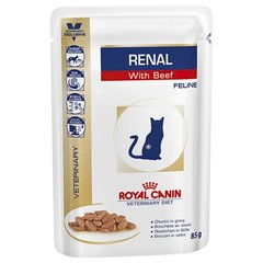Royal Canin Renal With Beef Feline Pouches